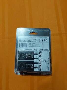 Caja De Inyección Directa Ultra Di-20  Behringer + Batería De 9v.