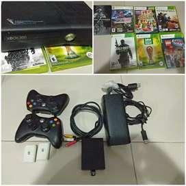 Xbox slim 360, 2controles, 320gigas