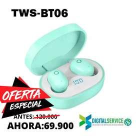 Audifonos Bluetooth Inalámbricos TWS-BT06