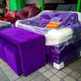 Sofa cama  + mesa +puff oferta
