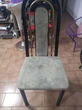 6 ,sillas de pana