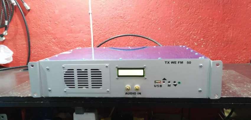 Transmisor FM de 50w digital stereo, antena y cable 0