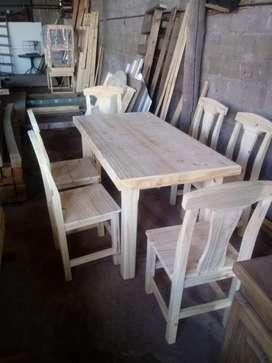 Mesa de madera de 1.50 x 0.80 a 9900 pesos