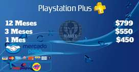 PS Plus 12 Meses NaxixGames