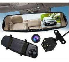 Espejo Retrovisor Doble Camara Full Hd Carro 4.3''