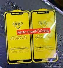Vidrio Templado Motorola Moto One Full Curvo  5D 6D