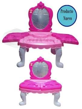 Peinadora, Maquilladora De Niña Con Set De Juguetes.