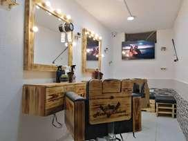 lavadero de motos, ploter de corte y barberia