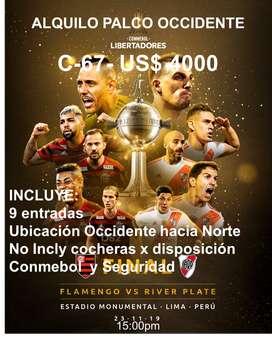Alquilo Palco Estadio Monumental Final Copa Libertadores