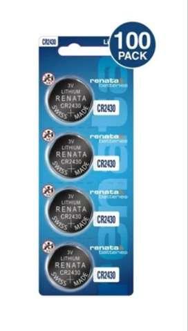 4 Baterías Pila Cr2430 Renata 3 Voltios 100 % Original (Gratis Envío)