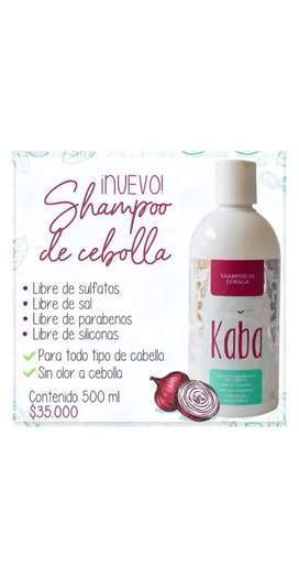Shampoo de cebolla Kaba por solo $35.000 Domicilios y envíos nacionales seguros