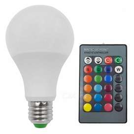 Lampara Led Bulbo Rgb E27 12w Control 16 Colores - La Plata