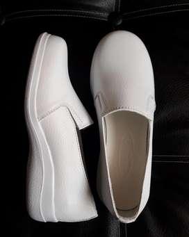 Zapatos Blancos Enfermera Nuevos Cuero