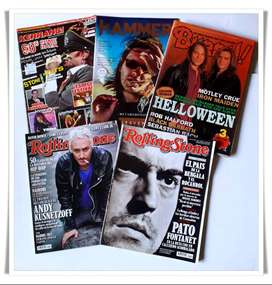 Revistas HeavyRock 2 Rolling Stones + 2 Metal Hammer en español + 1 Burrn! japonesa