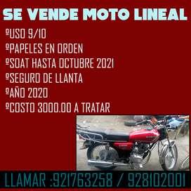 VENTA DE MOTO LINEAL