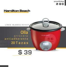 Olla Arrocera Hamilton Beach 20 Tazas Vaporera