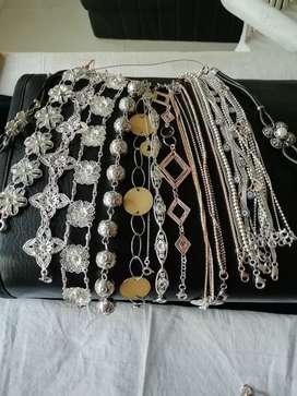 Lindas pulseras de plata ley 925 varios modelos