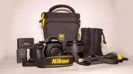 Nikon D3400 + Lente 18-55mm + Estuche