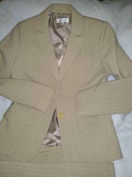 Traje Dama Orix Blazer Pantalon  Recto Espalda 40