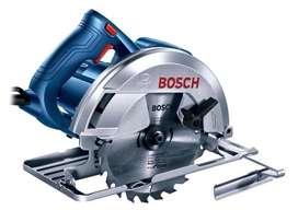 """Sierra circular de mano 7 1/4"""" Bosch GKS 150 1500 Watts NUEVA con guía y disco p/madera 24 dientes"""