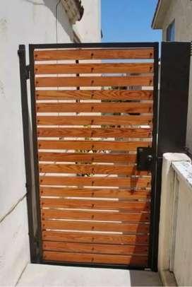 Herreria portones rejas y muebles con madera trabajos económicos
