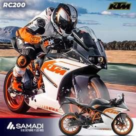Moto KTM RC 200. Facilidades de pago