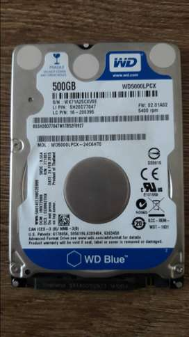 Disco Duro 500gb Para Portatil Western Digital Blue Usado