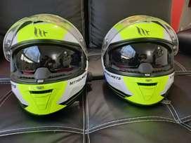 Casco mt helmet con intercomunicador