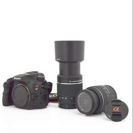 Sony a57 con dos lentes sony 18-55 y 55-200