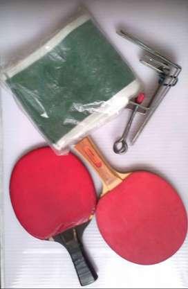 raquetas , soporte  y malla ping pong