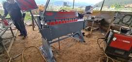 Dobladora de tool de 1.50 Mts tipo niagra