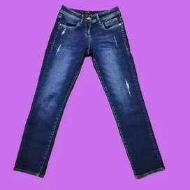 Jeans azul turqui