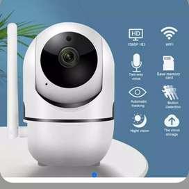 Cámara robótica wifi hd 720p dvr alarma visión nocturna nube