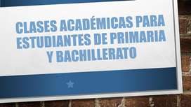 CLASES Primaria y Bachillerato