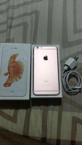 Vendo espectacular iphone 6s plus de 128 gb gold en inmejorables condiciones entrego con cargador de pared