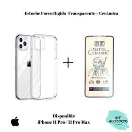 Estuche transparente para Iphone 11 más cerámica