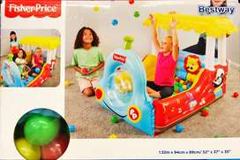 Tren Inflable Fisher Price Con 25 Pelotas - Bestway