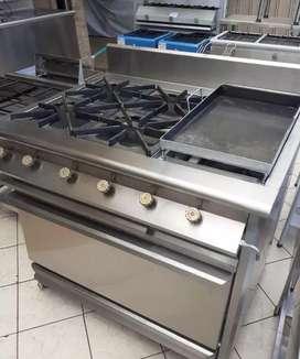 Cocina Industrial Especial Multi Servicios 6 en Acero inoxidable