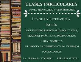Clases particulares de Español, Lengua, Literatura e Inglés. Redacción y corrección de textos por encargo