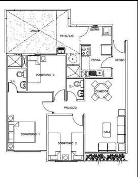 Remato dpto 1er piso con jardin y patio en condominio Santa Clara Ate