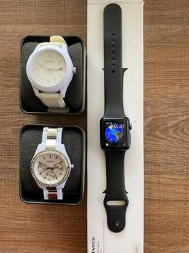 Relojes Fossil y Apple Watch