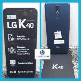 Celular LG K40 Azúl. libre.