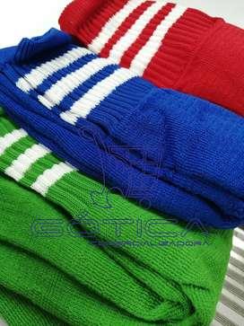 3 Pares De Medias Fútbol Fina Colores Tradicionales