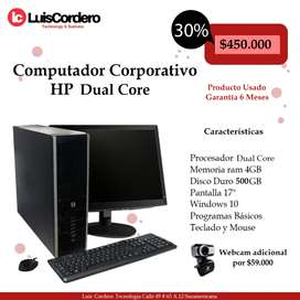 HP Dual Core Computador Corporativo