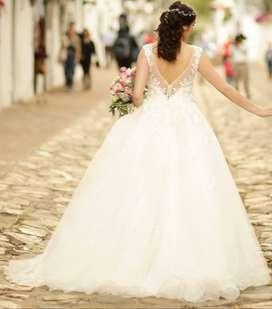 Hermoso vestido de novia importado