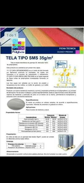Tela polytex SMS 35 gr