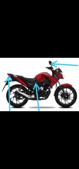 Repuestos para moto cbf 125 twister Honda