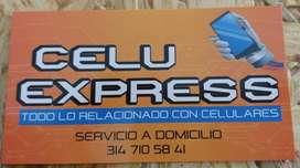 Celuexpress tecnico celular en andes, reparacion celulares