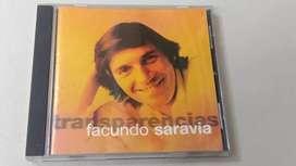 CD Facundo Saravia - Transparencias (primer disco solista)