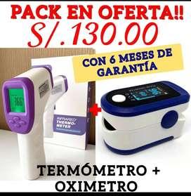 PACK EN OFERTA!! (TERMÓMETRO + OXIMETRO)